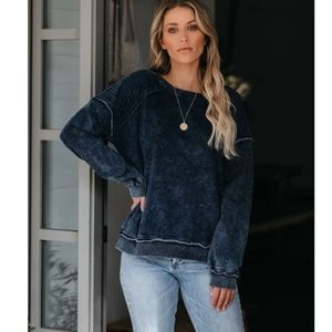 BRITANICA Mineral Wash Cotton Pullover